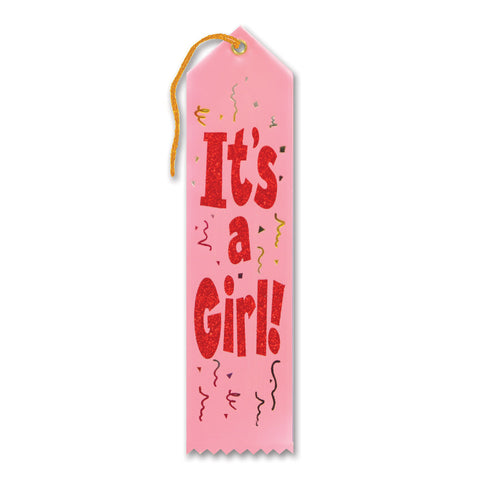 "It's A Girl! Award Ribbon, Size 2"" x 8"""