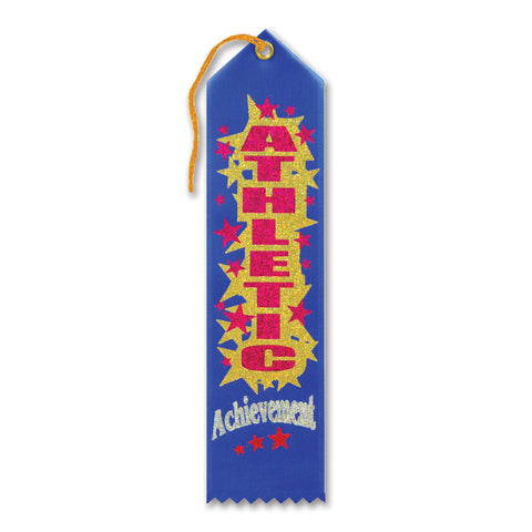"Athletic Achievement Award Ribbon, Size 2"" x 8"""