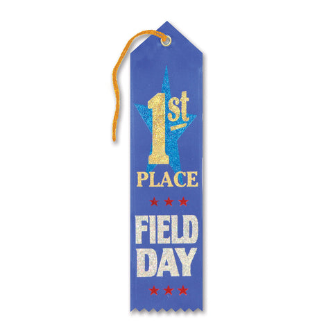 "1st Place Field Day Award Ribbon, Size 2"" x 8"""