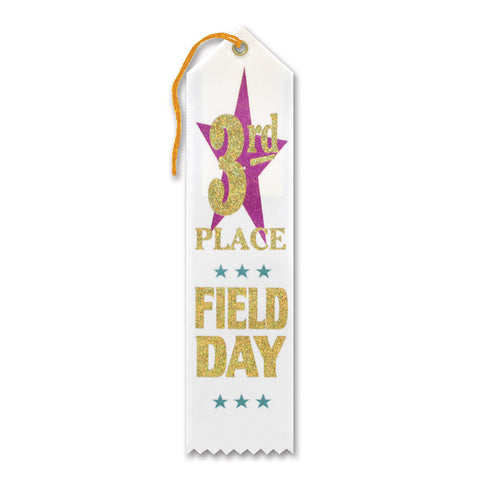 "3rd Place Field Day Award Ribbon, Size 2"" x 8"""