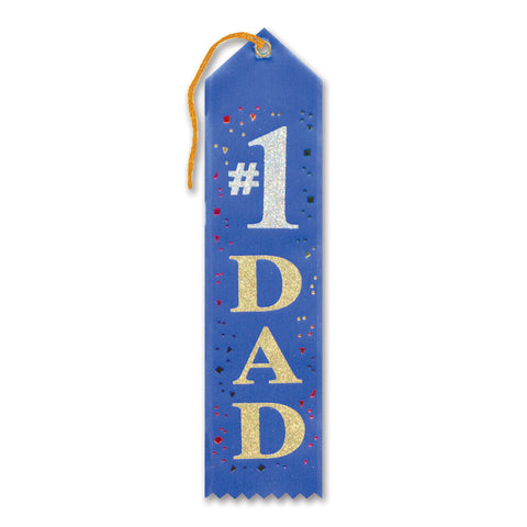 "#1 Dad Award Ribbon, Size 2"" x 8"""