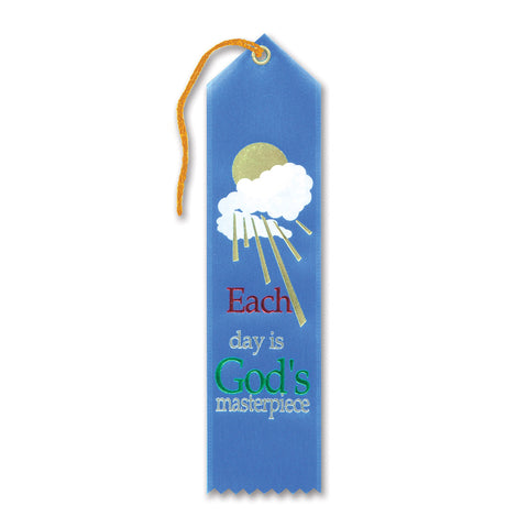 "Each Day Is God's Masterpiece Ribbon, Size 2"" x 8"""