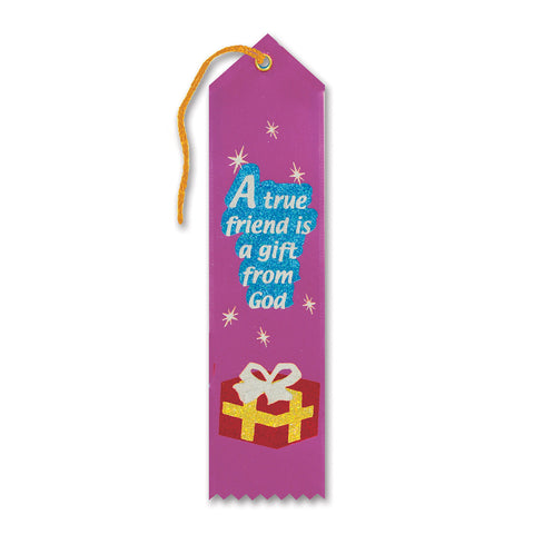"A True Friend Is A Gift From God Ribbon, Size 2"" x 8"""