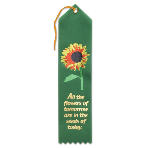 "All The Flowers Of Tomorrow Ribbon, Size 2"" x 8"""