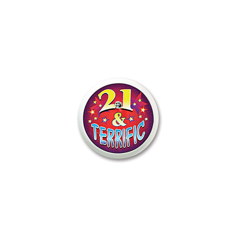 21 & Terrific Blinking Button, Size 2""