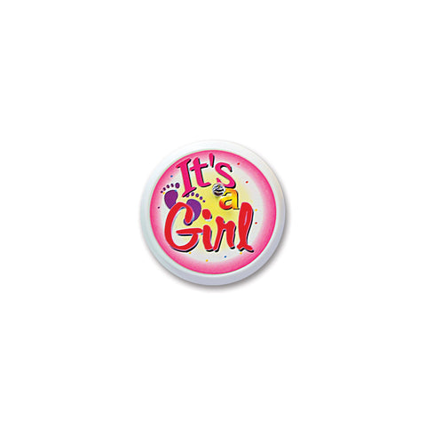 It's A Girl Blinking Button, Size 2""