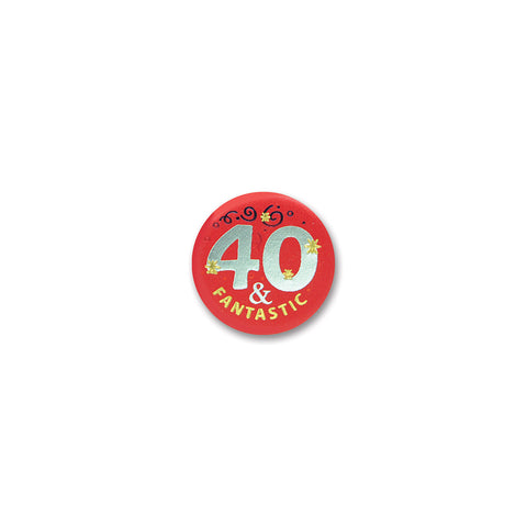 40 & Fantastic Satin Button, Size 2""