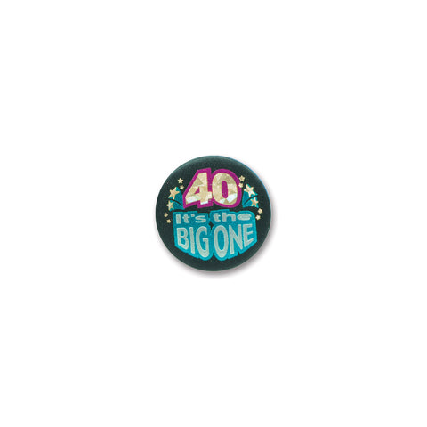 40 It's The Big One Satin Button, Size 2""