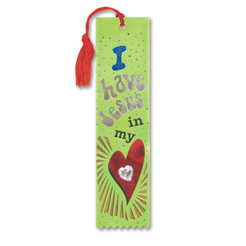 "Jesus In My Heart Jeweled Bookmark, Size 2"" x 7¾"""