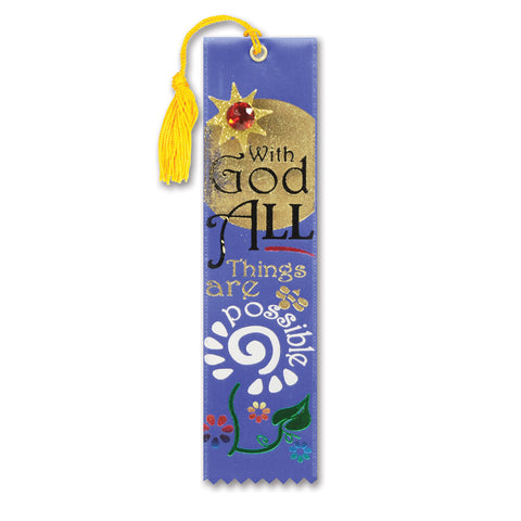 "All Things Are Possible Jeweled Bookmark, Size 2"" x 7¾"""