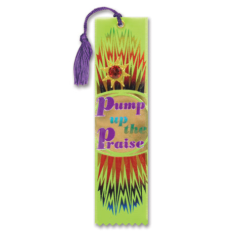 "Pump Up The Praise Jeweled Bookmark, Size 2"" x 7¾"""