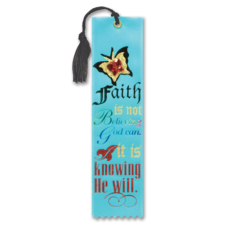 "Faith Knowing He Will Jeweled Bookmark, Size 2"" x 7¾"""