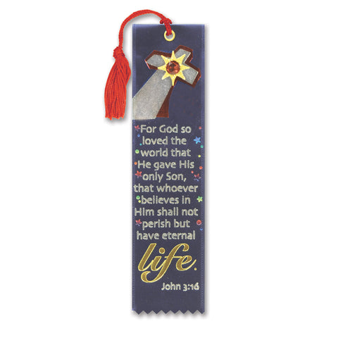 "For God Loved The World Jeweled Bookmark, Size 2"" x 7¾"""