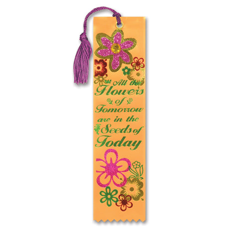"All Flowers Of Tomorrow Jeweled Bookmark, Size 2"" x 7¾"""