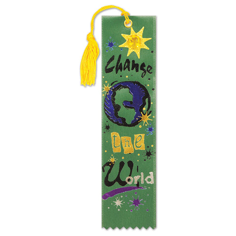"Change The World Jeweled Bookmark, Size 2"" x 7¾"""