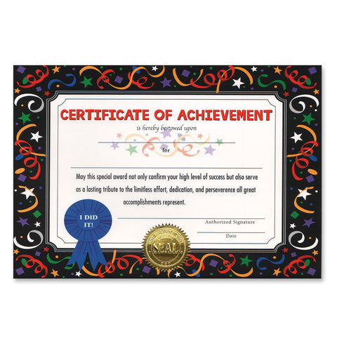 "Certificate Of Achievement, Size 5"" x 7"""