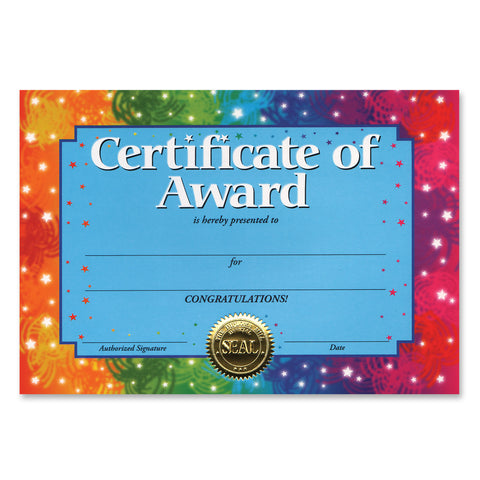 "Certificate Of Award, Size 5"" x 7"""