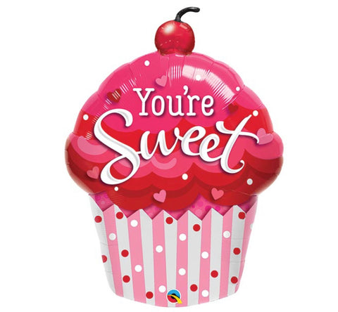 "35"" Supershape, Amor, Diseño You're Sweet Cupcake Shape"