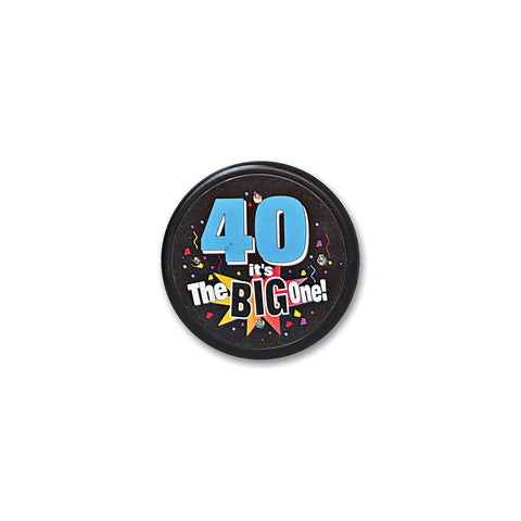 40 It's The Big One Flashing Button, Size 2½""