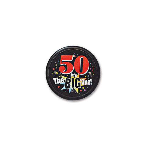 50 It's The Big One Flashing Button, Size 2½""