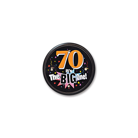 70 It's The Big One Flashing Button, Size 2½""