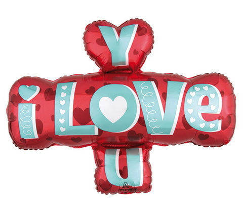 "32"" Supershape, Amor, Diseño I Love You Type"