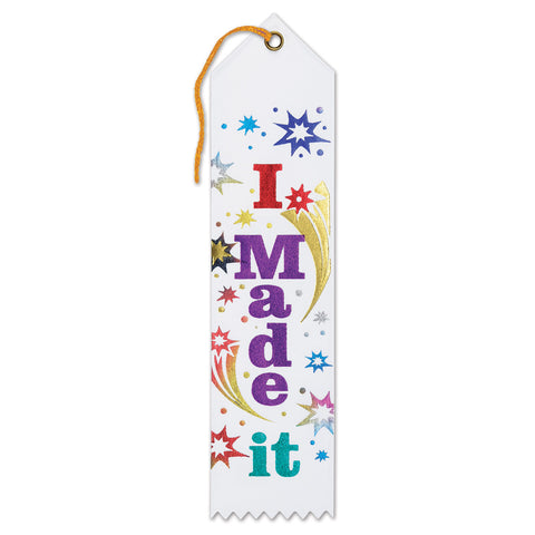 "I Made It Award Ribbon, Size 2"" x 8"""