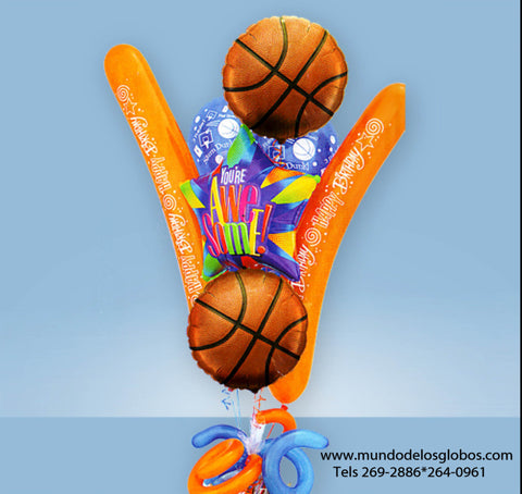 Bouquet, Happy Birthday, Estrella, You Are Awesome!, Baloncesto, Basketball, HBN