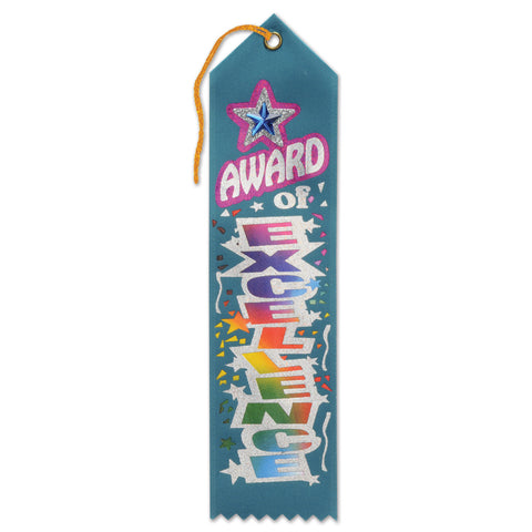 "Award Of Excellence Jeweled Ribbon, Size 2"" x 8"""