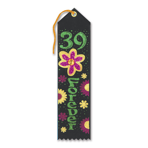 "39 Forever Jeweled Ribbon, Size 2"" x 8"""