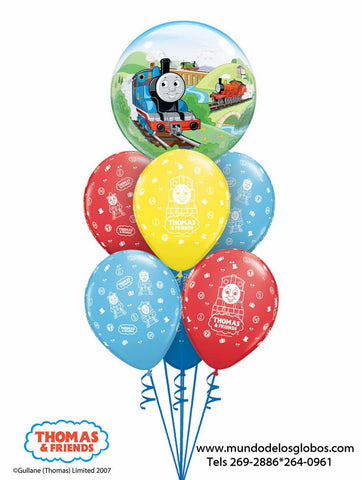 Bouquet Thomas & Friends de Burbuja y Globos de Colores