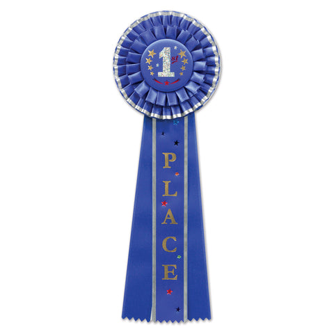 "1st Place Deluxe Rosette, Size 4½"" x 13½"""