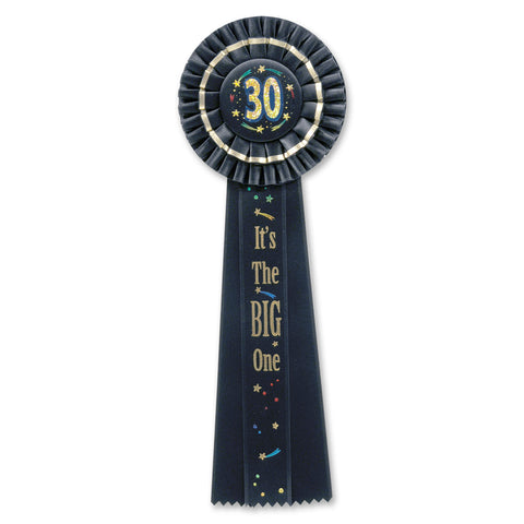 "30 It's The Big One Deluxe Rosette, Size 4½"" x 13½"""