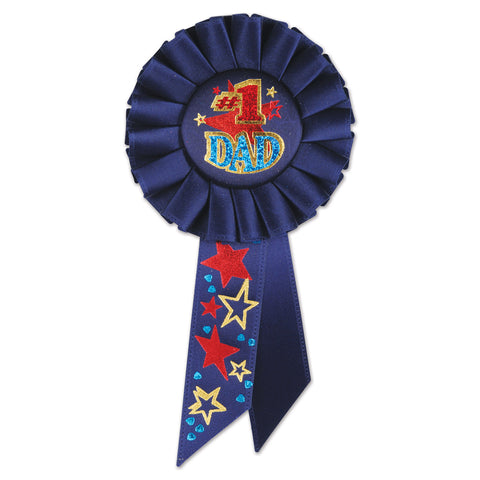 "#1 Dad Rosette, Size 3¼"" x 6½"""