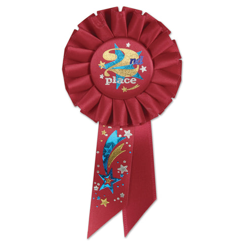 "2nd Place Rosette, Size 3¼"" x 6½"""