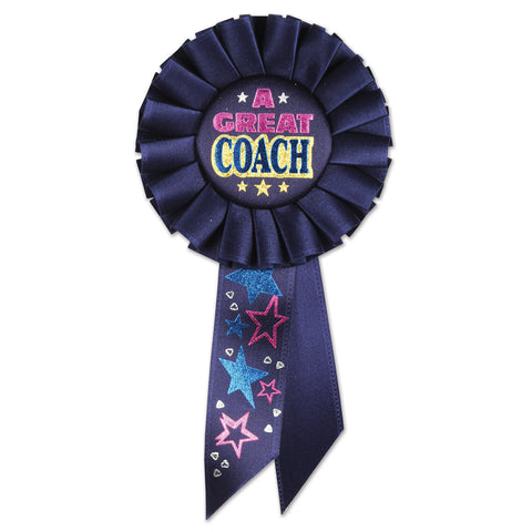 "A Great Coach Rosette, Size 3¼"" x 6½"""