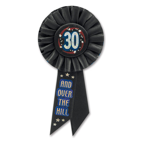 "30 & Over The Hill Rosette, Size 3¼"" x 6½"""