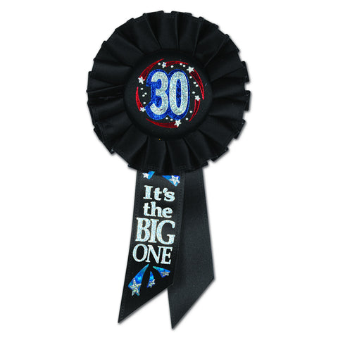 "30 It's The Big One Rosette, Size 3¼"" x 6½"""