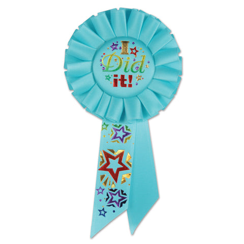 "I Did It! Rosette, Size 3¼"" x 6½"""