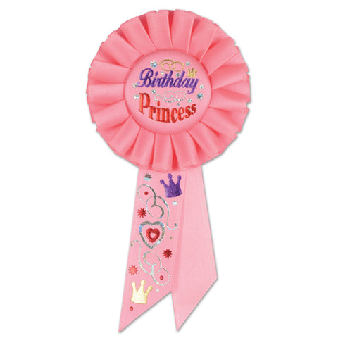 "Birthday Princess Rosette, Size 3¼"" x 6½"""