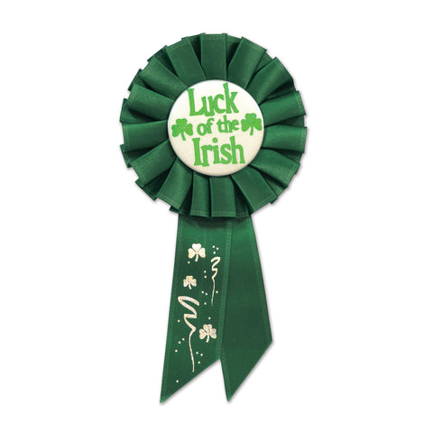 "Luck Of The Irish Rosette, Size 3¼"" x 6½"""