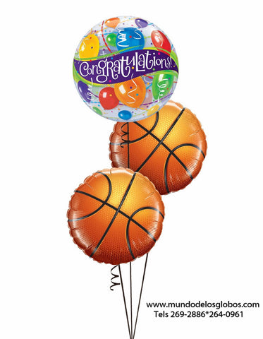 Bouquet Congratulation con Pelotas de Basketball