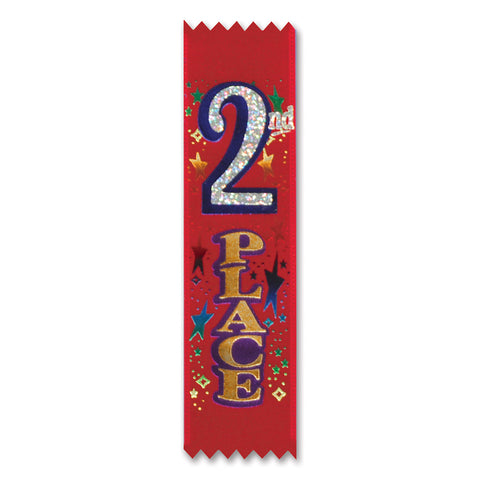 "2nd Place Value Pack Cinta de Premio, Size 1½"" x 6¼"""