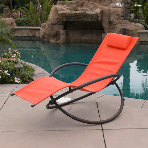 Orbital Foldable Zero Gravity Lounger Chair Rocking Furniture Outdoor Chaise
