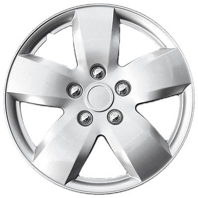 "Car Accessories 1 Piece of 16"" Inch Silver Hub Caps Full Lug Skin Rim Cover for OEM Steel Wheels"