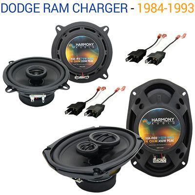 For Car Dodge Ram Charger 1984-1993 OEM Speaker Upgrade Harmony R69 R5 Package