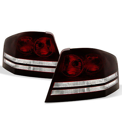 08-10 Avenger Tinted Smoke Red Tail Lights Assembly Replacement L+R