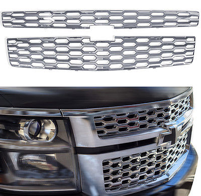 Car Accessories 2015-16 Chevy Tahoe Suburban Snap On CHROME Grill Covers Bar Inserts Overlays