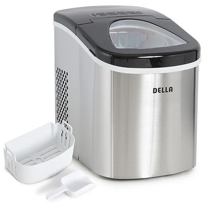 Electric Ice Maker Cube Portable Cube Touch Control 26 lb/ day -Stainless Steel