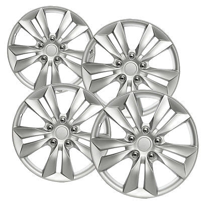 "Car Accessories 4pc Hub Caps ABS Silver 16"" Rim Wheel Replica Cover fit Hyundai Sonata 2006-13"